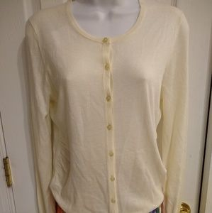 Ann Taylor cream long sleeve summer sweater